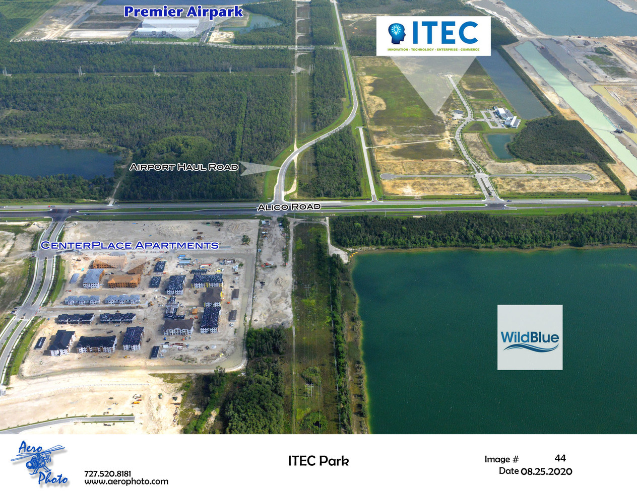 Alico ITEC is just north of WildBlue and the CenterPlace Apartments are under construction