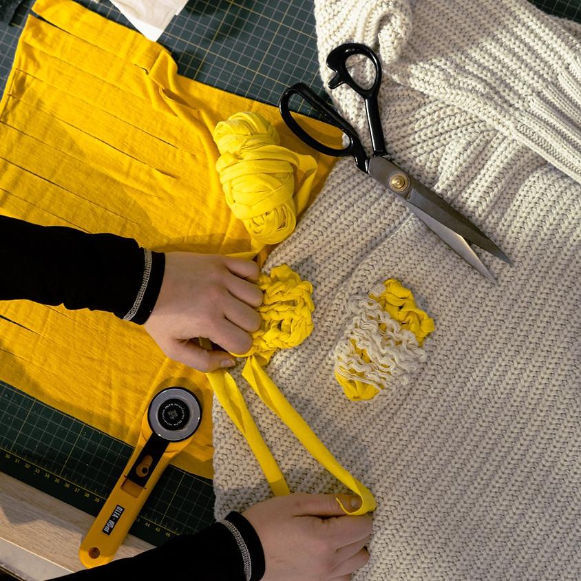 OLIVIA RUBENS: Repurposing, Mending Your Knits and Finger Knitting