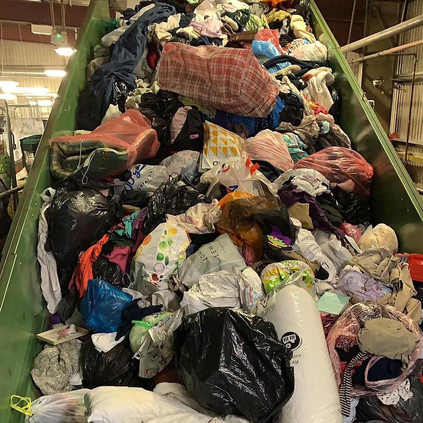 E.L.V. DENIM x RESKINNED: A talk and a tour of a textile sorting facility