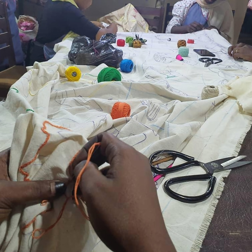 SOBAJO KHARTOUM: Hand embroidery workshop
