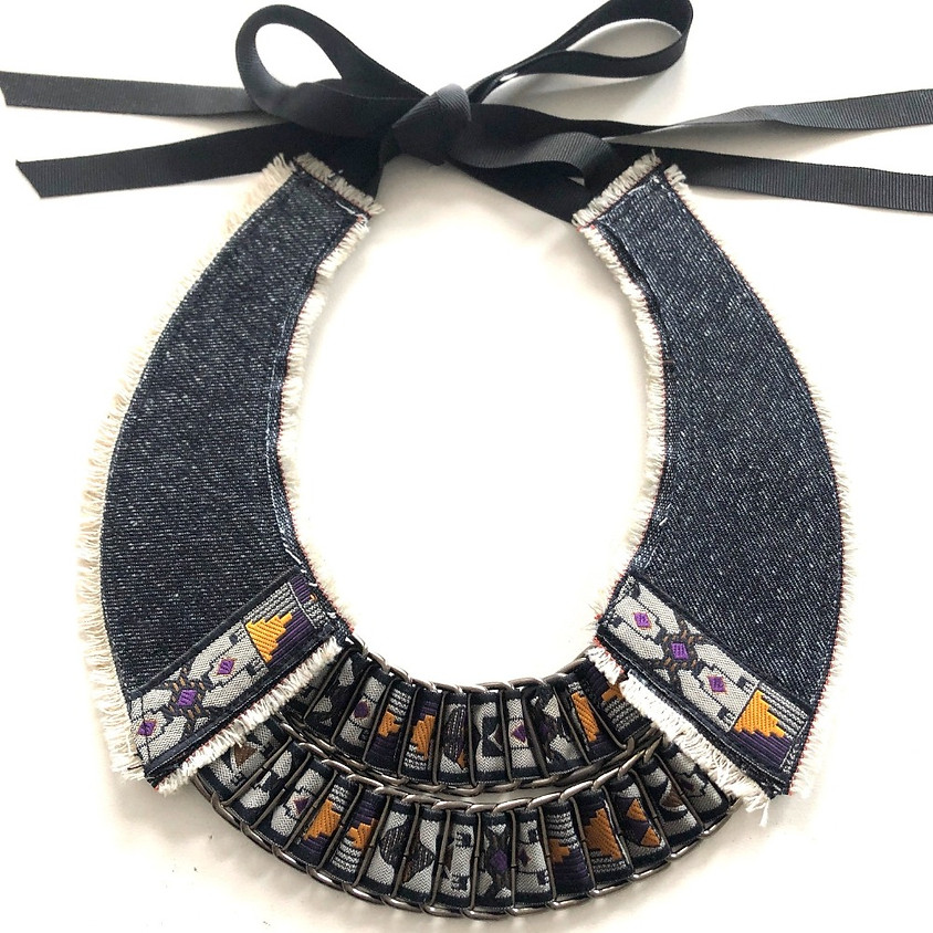 MICHELLE LOWE-HOLDER: Crafting a reversable upcycled collier