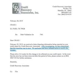 Deletion letter 2-28-2019 Credit Recover