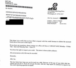Deletion letter from Collector