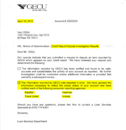 Credit Union Corrected Error!