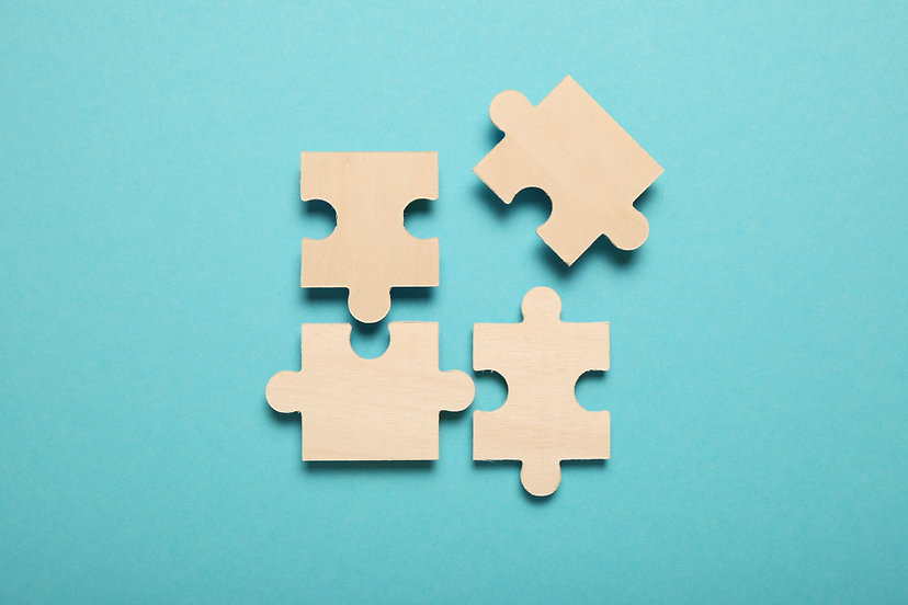 Wooden puzzles, solving problems in busi