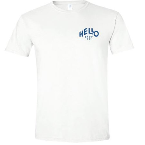 White Hello Brew Co. Tee