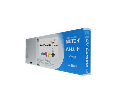 Mutoh UV LED 220ml Ink Cartridge Set-CMYK VJ-LUH1 series