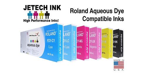 Roland Aqueous Dye 220ml Ink Cartridge Set (FDY Sries)