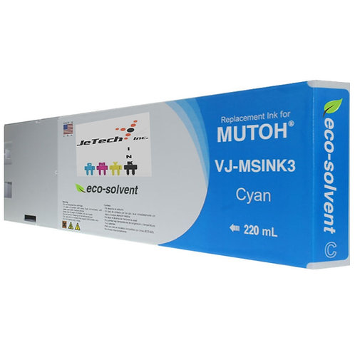 Mutoh VJ-MSINK3 Eco Solvent Eco Ultra Compatible 220ml Ink Cartridge