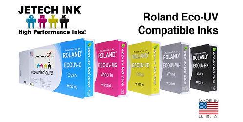 Roland Eco UV 220ml Ink Cartridge SET-6 colors (EUV Series)