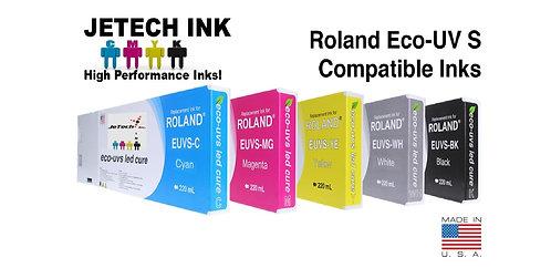 Roland Eco-UV S 220ml Ink Cartridge Set (EUVS Series)