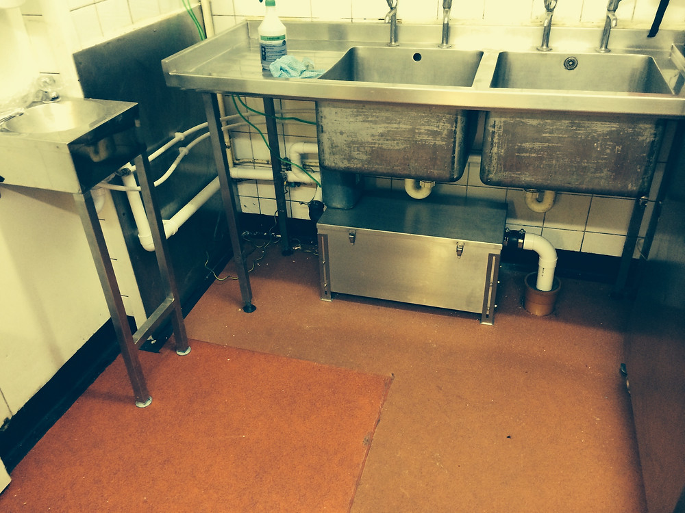 Grease trap installed by JCS Drainage, Commercial drain experts