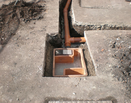 Commercial drainage installations