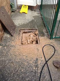 Overflowing drains in Blackpool