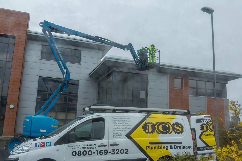 Commercial Gutter Cleaning & Pressure Washing throughout Lancashire, Cumbria, Manchester.
