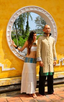 Salong skirt & Vanh Dai Green