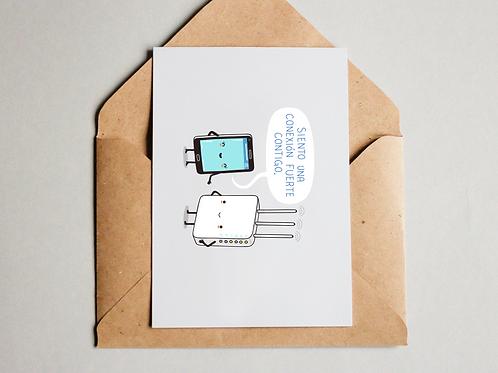 Postal - Una conexión fuerte