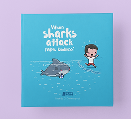 When sharks attack with kindness mockup.