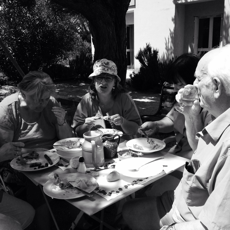 Repas avec le personnel