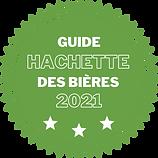 Logo hachette des bières 2021 3 étoiles.
