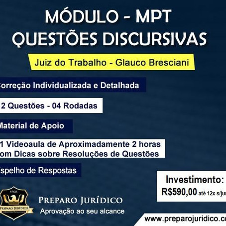 Curso Segunda Fase MPT