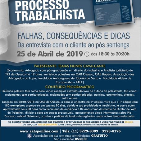 Palestra Isaías Nunes Cavalvante