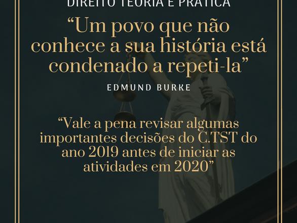 Jurisprudência trabalhista no TST em 2019.
