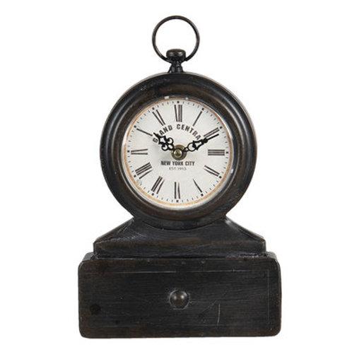 Horloge de parquet à poser avec tiroir