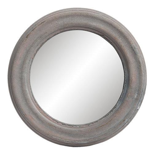 Miroir patiné gris-blanc