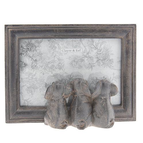 Cadre photo trio éléphant
