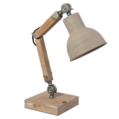 Lampe de bureau en bois et métal