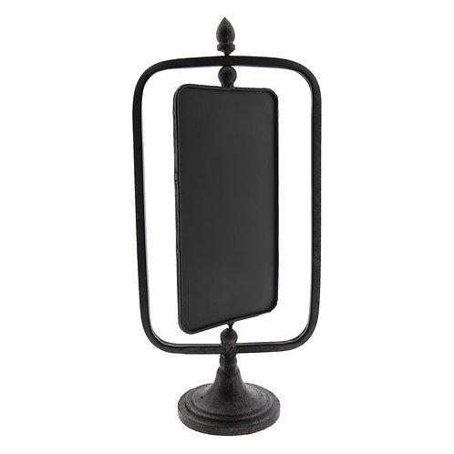 Tableau noir pivotant en métal sur socle