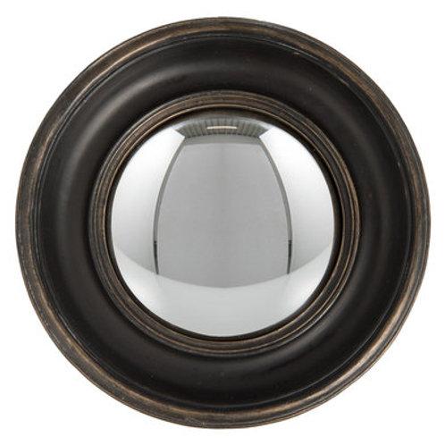 """Miroir convexe """"oeil de sorcière"""" noir"""