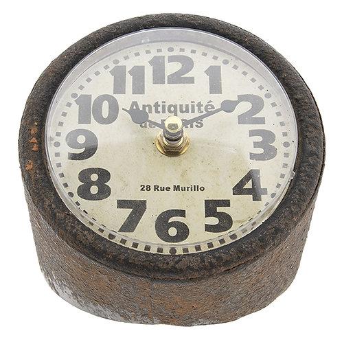"""Horloge à poser """"Tube"""" vieillie"""