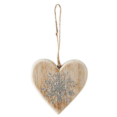 pendentif en bois avec une étoile argnté