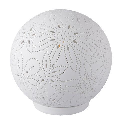 Lampe en porcelaine boule