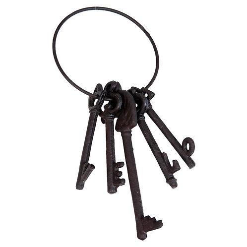 trousseau de clés décoratif en fonte