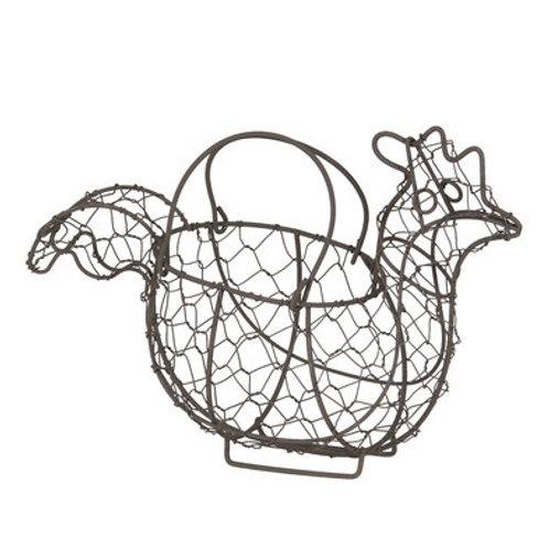Porte œufs poule en métal
