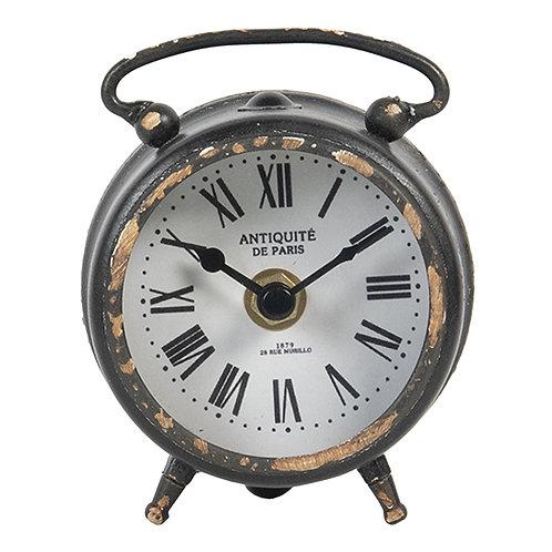 Horloge ronde à poser vieillie