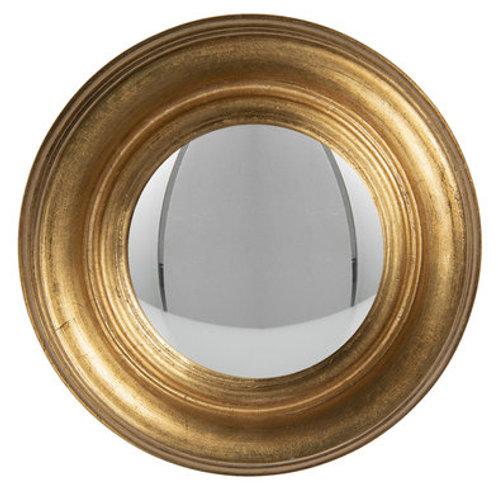 """Miroir convexe """"œil de sorcière"""" doré"""