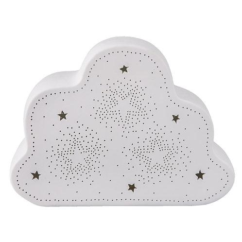 Lampe  en porcelaine nuage