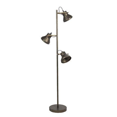 Lampadaire industrielle 3 spots en cuivre