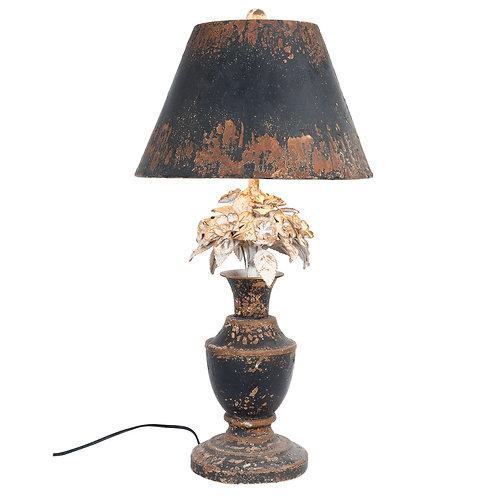Lampe vieillie en métal