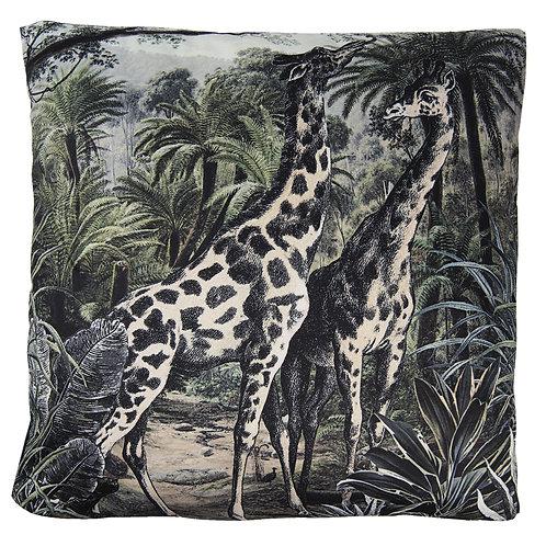 Coussins velours Girafes