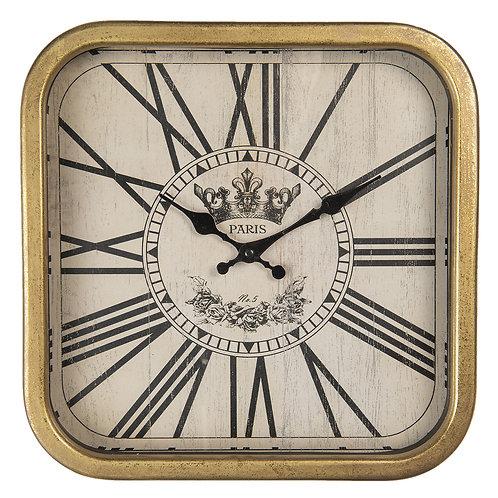 Horloge murale doré vieillie