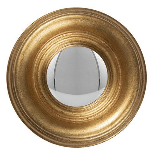 """Miroir convexe """"oeil de sorcière"""" doré"""