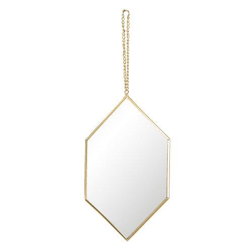Miroir hexagonal à suspendre