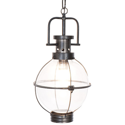 Lampe suspension globe verre