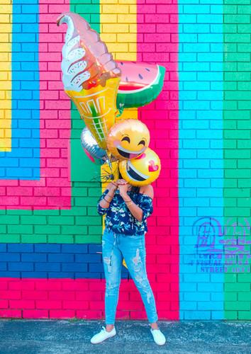 Balões de diversos formatos
