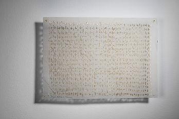 Plus|Minus|Black|white   Singed silk paper  21*29 cm